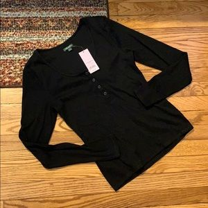 NWT Wild Fable Long Sleeve Black Top